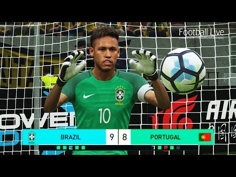 PES 2018 | goalkeeper NEYMAR vs goalkeeper C.RONALDO | Penalty Shootout | Brazil vs Portugal