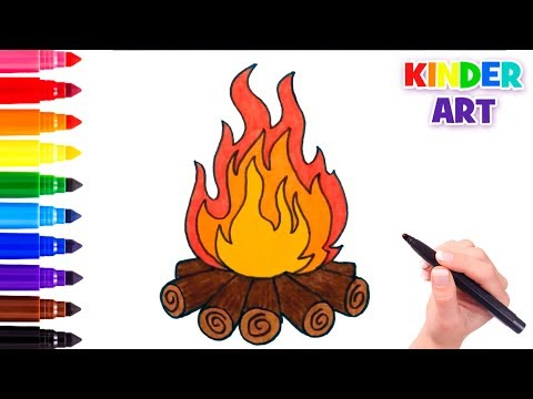 how to draw fire fire easy draw tutorial videomoviles com