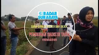 Reka Ulang Pembunuhan Sadis di Tarik, Sidoarjo
