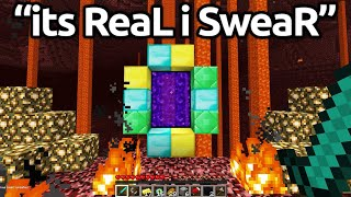 The Most HILARIOUS FAKE Minecraft SPEEDRUNS...