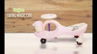 Baybee Baby Swing Magic Car Free Wheel Magic Car with Storage Bin and Music