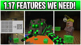 Minecraft 1.17 Features WE NEED! Grappling Rope, New Boss & Underground Village!!!