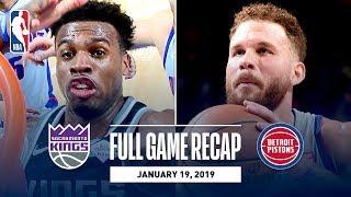 Full Game Recap: Kings vs Pistons | Hield Wins It At The Buzzer