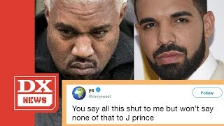 Kanye West Says Drake Threatened Him But Won't Do That To J Prince