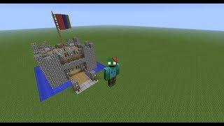 Minecraft Let's Build a Mini Castle Episode 1