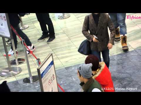 [Fancam] 131201 Super Junior at Macau Airport (Heechul Donghae Kyuhyun Eunhyuk)