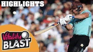 Big Scoring Encounter At The Oval | Surrey v Glamorgan | Vitality Blast 2018 - Highlights