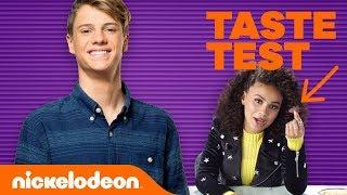 Jace Norman's April Fools Taste Test w/ Jojo Siwa, Lizzy Greene, Daniella Perkins & More 🐛 l Nick