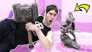 HE BOUGHT A REAL LIFE DOOM HAMMER!!!