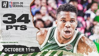 Giannis Antetokounmpo EPIC Full Highlights vs Mavericks (2019.10.11) - 34 Pts, 12 Reb, 4 Ast!