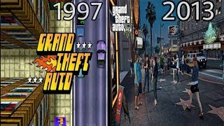Evolution of GTA - Grand Theft Auto (1997-2013)