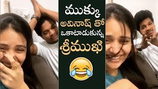 Anchor Sreemukhi makes fun of Jabardasth Mukku Avinash..