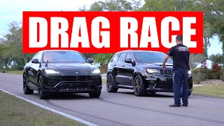 Jeep Trackhawk vs Lamborghini Urus DRAG RACE!!