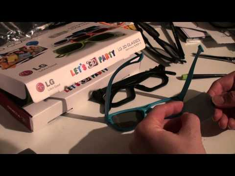 LG Cinema 3D DIYS dual gaming glasses and demo