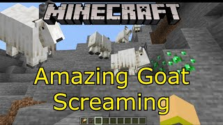 Amazing Goats In Minecraft Screaming!