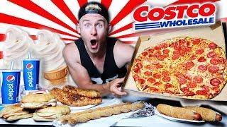 THE ENTIRE COSTCO FOOD COURT MENU CHALLENGE! (11,000+ CALORIES)