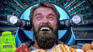 Arnold Schwarzenegger's MR OLYMPIA Daily Diet Challenge | BeardMeatsFood