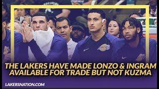 Lakers Rumors: Lakers Have Made Lonzo Ball & Brandon Ingram Available for Trade, Won't Trade Kuzma