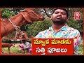 Bithiri Sathi Prays Goat