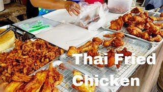 Fried Chicken in Thailand | Thai Food Market Fried Chicken | Thailand Fried Chicken Night Market