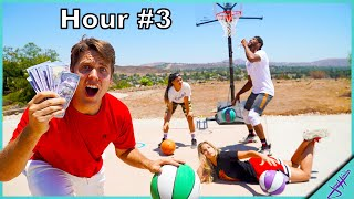 LAST TO STOP DRIBBLING WINS $1,000! *Basketball Challenge*