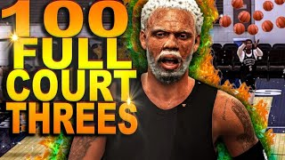UNCLE DREW Goes For 500 POINTS IN NBA 2K.. Hits 100 Full COURT THREES In ONE GAME!
