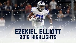 Ezekiel Elliott's Record-Breaking First 10 Games (2016 Highlights) | NFL