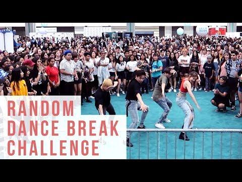 Random K-pop Dance Break Challenge KCON LA 2018 | Ellen and Brian
