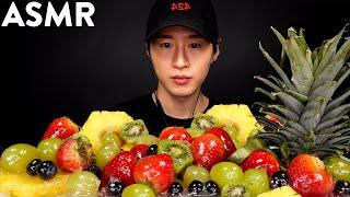 ASMR CANDIED FRUIT *TANGHULU* MUKBANG (No Talking) ICE CRACKING EATING SOUNDS | Zach Choi ASMR