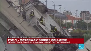 What caused the motorway bridge collapse in Italy?