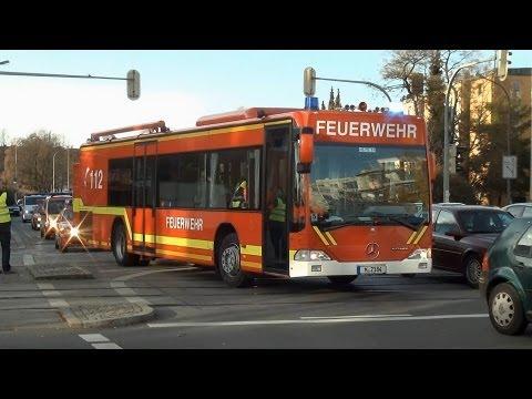 600.Video Verkehrsunfall mit Linienbus (MANV) Großübung im Münchener Richard Strauss Tunnel
