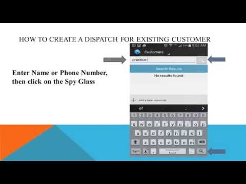 How to create Dispatch existing customer