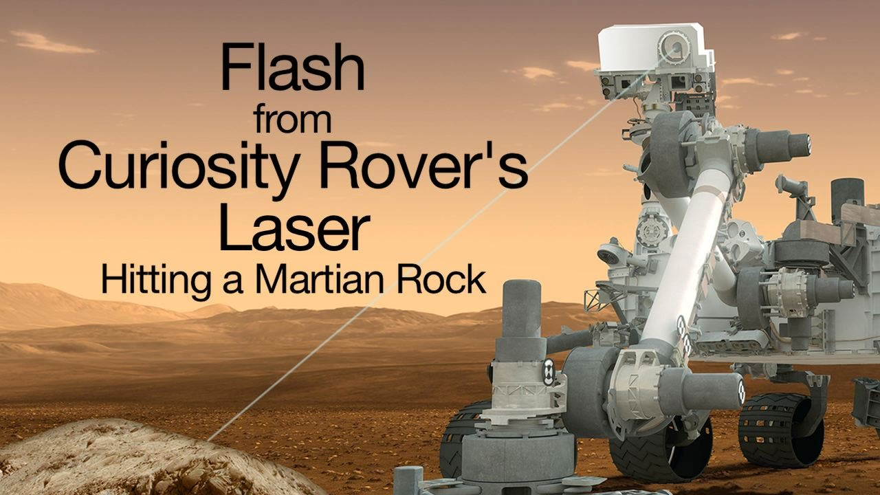 Flash from Curiosity Rover's Laser Hitting a Martian Rock ...