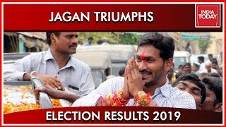 YS Jagan Mohan Reddy's Supporters Begin Celebrations- Resu..