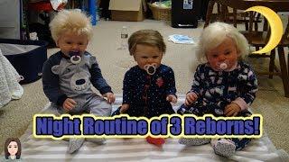 Night Routine of Reborn Toddler Twins & Baby | Kelli Maple