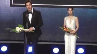 150526 Park Shin hye パク・シネ & Lee Min Ho イ・ミンホ @ Baeksang Arts Awards