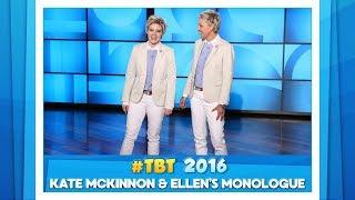 #TBT to Ellen & Kate McKinnon's Monologue