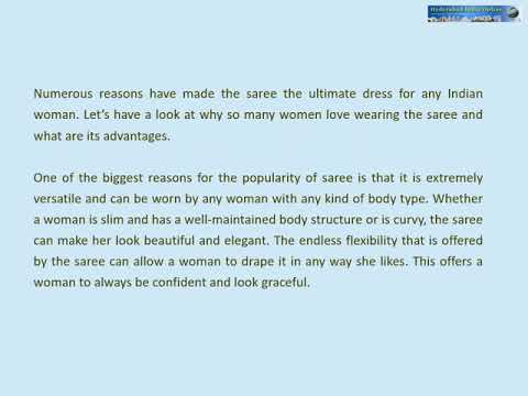 Advantages of Wearing Sarees