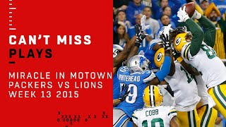 Aaron Rodgers' Amazing Hail Mary: The Miracle in Motown! | Packers vs. Lions | NFL