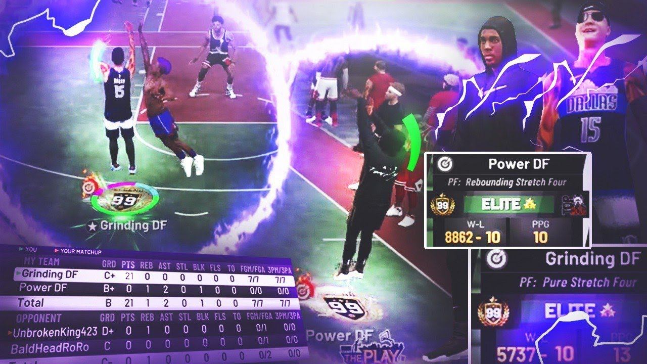 THIS TWO 99 OVERALL STRETCH BIG LINEUP IS OVERPOWERED!! BEST BUILD + BEST  DUO on NBA 2K19 Power DF