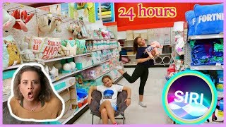 SIRI CONTROLS OUR 24 HOURS MOM CAN'T SAY NO CHALLENGE | SISTERFOREVER