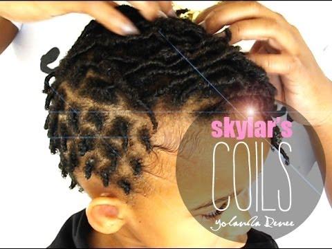 Natural Hair Skylar S Finger Coils Comb Coils Youtube