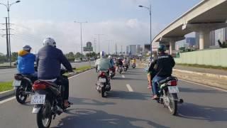 Xa lộ Biên Hòa, Thủ Đức, Cầu Rạch Chiếc,Ngã ba Cát Lái,Sài Gòn, sáng Mùng 10, Tết Đinh Dậu