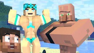 The minecraft life of Alex and Steve : Steve vs Villager  - Minecraft animation
