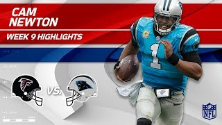 Cam Newton Highlights | Falcons vs. Panthers | Wk 9 Player Highlights