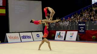FIG Acro World Cup 2013 Maia - POR W3 Sen Balance - Leonor, Barbara and Daniela