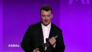 Sam Smith Wins Favorite Pop/Rock Artist, Male - AMA 2014