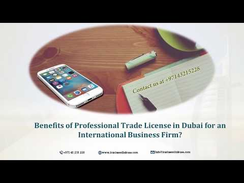 Benefits of Professional License in Dubai