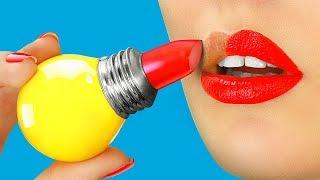 10 DIY Weird Makeup Ideas / Funny Makeup Pranks