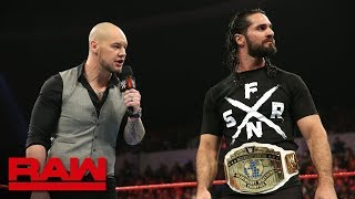 "Seth Rollins on Baron Corbin's ""abject failure"" running Raw: Raw, Dec. 10, 2018"